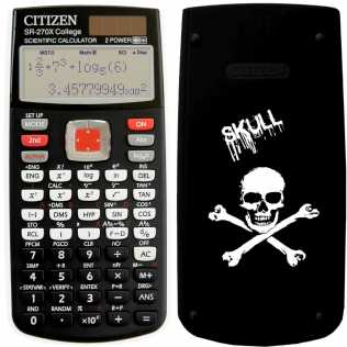 Fotografía: Proponga a vender Calculadoras CITIZEN - CALC. SCIENTIFIQUE CITIZEN SR-270X SKULL COLLECTOR